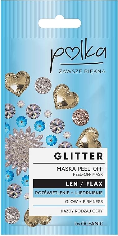 Mască hidratantă și exfoliantă cu extract de in - Polka Glitter Peel Off Mask Flax
