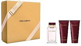 Parfumuri și produse cosmetice Dolce & Gabbana Pour Femme - Set (edp/100ml + b/lot/100ml + sh/gel/100ml)