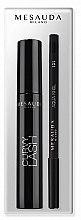 Parfumuri și produse cosmetice Set - Mesauda Milano Curvy Lash (mascara/13ml + eye/p/1.4g)
