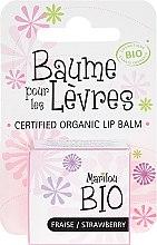 """Parfumuri și produse cosmetice Balsam de buze """"Căpșuni"""" - Marilou Bio Certified Organic Lip Balm"""