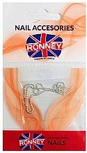 Parfumuri și produse cosmetice Strasuri pentru unghii, 00376, argintie - Ronney Professional