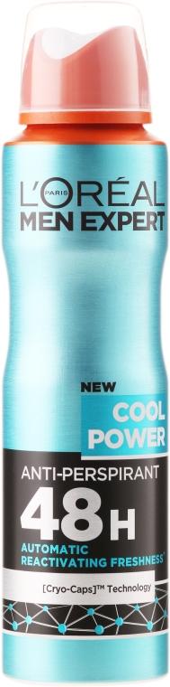 Deodorant- antiperspirant pentru bărbați - L'Oreal Paris Men Expert Cool Power Deodorant Spray
