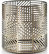 Parfumuri și produse cosmetice Sfeșnic pentru lumânări - Yankee Candle Crosshatch Brass Jar Holder