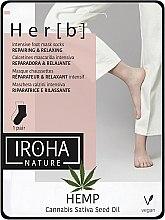 Parfumuri și produse cosmetice Mască pentru picioare - Iroha Nature HEMP Cannabis Foot Mask