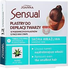Parfumuri și produse cosmetice Benzi depilatoare cu extract de aloe pentru faţă - Joanna Sensual Depilatory Face Strips