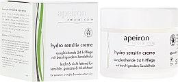 Parfumuri și produse cosmetice Cremă hidratantă pentru pielea sensibilă - Apeiron Hydro Sensitiv Cream 24h
