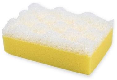 """Мочалка для душа """"SPA"""", бело-желтая 6015 - Donegal — фото N1"""