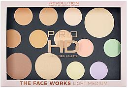Parfumuri și produse cosmetice Paleta pentru ten - Makeup Revolution Pro HD The Works Palette