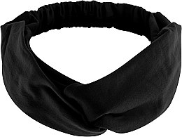 """Parfumuri și produse cosmetice Bentiță din tricotaj, neagră """"Knit Twist"""" - MakeUp Hair Accessories"""