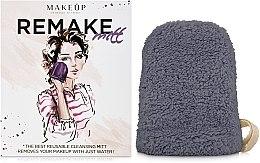 "Духи, Парфюмерия, косметика Рукавичка для снятия макияжа, серая ""ReMake"" - MakeUp"
