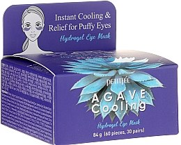 Parfumuri și produse cosmetice Patch-uri hydrogel sub ochi cu extract de agava - Petitfee&Koelf Agave Cooling Hydrogel Eye Mask