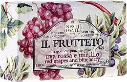 Parfumuri și produse cosmetice Săpun cu struguri și afine - Nesti Dante Il Frutteto