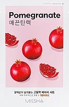 Parfumuri și produse cosmetice Mască pe bază de extract de rodie pentru față - Missha Airy Fit Pomegranate Sheet Mask