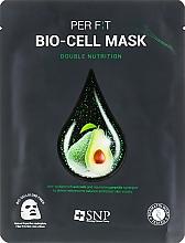 Parfumuri și produse cosmetice Mască de bioceluloză cu extract de ulei de avocado - SNP Double Nutrition Bio-Cell Mask