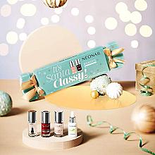 Parfumuri și produse cosmetice Set - NeoNail Professional It's Santa Classy Set! (nail/polish/3x7.2ml + n/oil/6.5ml)