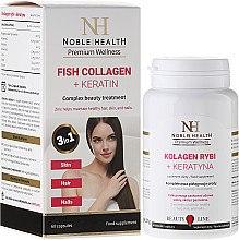 Parfumuri și produse cosmetice Suplimente nutritive pentru îngrijirea părului, pielii și unghiilor - Noble Health Kolagen + Ceratin