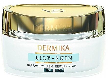 """Cremă de față """"Regenerantă"""" - Dermika Lily-Skin Repair Cream Night — Imagine N1"""