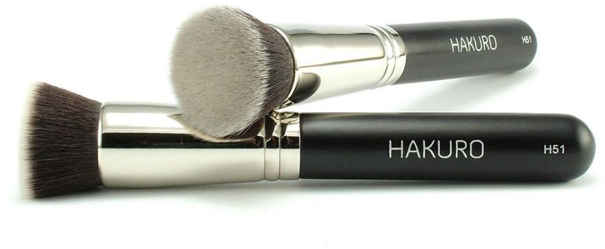"""Pensulă pentru fond de ten """"H51"""" - Hakuro — Imagine N1"""