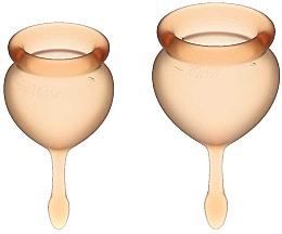 """Parfumuri și produse cosmetice Set cupe menstruale cu """"codiță"""", portocaliu - Satisfyer Feel Good Menstrual Cup Orange"""