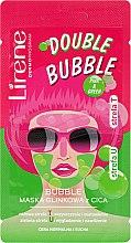 Parfumuri și produse cosmetice Bubble-mască cu argilă pentru față - Lirene Double Bubble Cica Mask