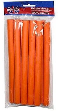 Bigudiuri profesionale flexibile 16/210, portocaliu - Ronney Professional Flex Rollers — Imagine N1