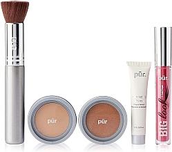 Parfumuri și produse cosmetice Set - Pur Minerals Best Sellers Starter Kit Light Tan (primer/10ml+found/4.3g+bronzer/3.4g+mascara/5g+brush)