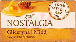 """Parfumuri și produse cosmetice Săpun """"Glicerină și miere"""" - Luksja Nostalgia Glycerin & Honey Soap"""