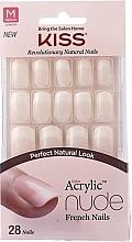 Parfumuri și produse cosmetice Set unghii false, cu adeziv - Kiss Salon Acrylic Nude Nails Cashmere