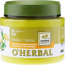 Parfumuri și produse cosmetice Маска для объема тонких волос с экстрактом арники - O'Herbal