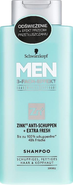 Șampon anti-mătreață - Schwarzkopf Men Deep Effect 3 Zinc Anti-Dandruff+Oil Control Shampoo