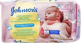 Parfumuri și produse cosmetice Șervețele umede, 112buc. - Johnson's Baby Extra Sensitive