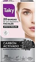 Parfumuri și produse cosmetice Benzi depilatoare cu cărbune activ pentru față - Taky Activated Carbon Facial Wax Strips