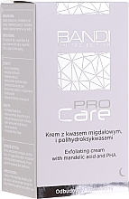Parfumuri și produse cosmetice Cremă exfoliantă cu migdale și acizi polihidroxi - Bandi Professional Pro Care Exfoliating Cream With Mandelic Acid And Polyhydroxy Acids