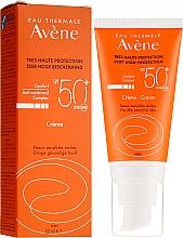Parfumuri și produse cosmetice Cremă de protecție solară pentru față - Avene Eau Thermale Sun Cream SPF50