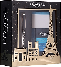 Parfumuri și produse cosmetice Set - L'oreal Paris Make-up Set (mascara/10.7ml + demaquillant/125ml)