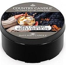 Parfumuri și produse cosmetice Lumânare de ceai - Country Candle Spicy Pumpkin White Chocolate Daylight