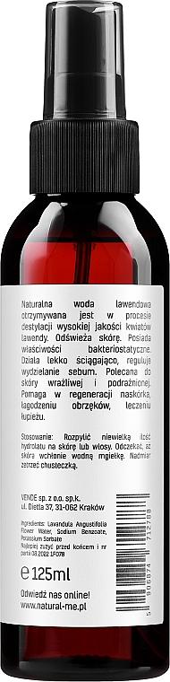 "Гидролат ""Лаванда"" - NaturalMe Hydrolat Lavender — фото N2"
