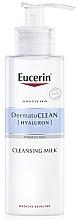 Parfumuri și produse cosmetice Spumă de curățare pentru ten uscat și sensibil - Eucerin DermatoClean Hyaluron Cleansing Milk