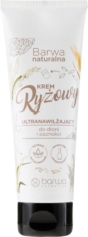 Cremă pentru mâini și unghii cu proteine de orez - Barwa Natural Rice Hand Cream