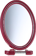 Parfumuri și produse cosmetice Oglindă cosmetică, dublă, cu suport, 11x15 cm, bordo - Donegal Mirror
