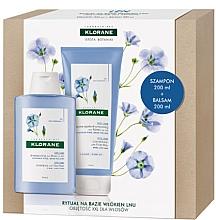 Parfumuri și produse cosmetice Set - Klorane Flax Fiber (shm/200ml + cond/200ml)