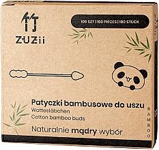Parfumuri și produse cosmetice Bețișoare din bumbac, capete diferite - Zuzii Bamboo Cotton Buds