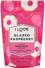 """Parfumuri și produse cosmetice Sare de baie """"Zmeură glazurată"""" - I Love Glazed Raspberry Bath Salt"""