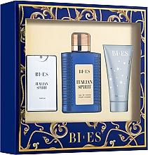 Parfumuri și produse cosmetice Bi-Es Italian Spirit - Set (edt/100ml + edt/15ml + sh/gel/50ml)
