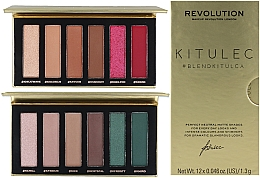 Parfumuri și produse cosmetice Set - Makeup Revolution Kitulec #BlendKitulca Shadow Palette (2xsh/palette/7.8g)
