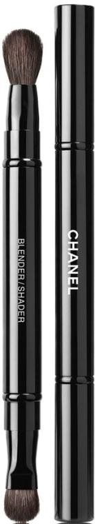 Pensulă dublă pentru farduri de ochi - Chanel Pinceau Duo Paupiries Retractable — Imagine N1