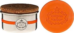 Parfumuri și produse cosmetice Săpun natural - Essencias de Portugal Aluminium Jewel-Keeper With Cork Lid Orange