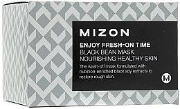Parfumuri și produse cosmetice Mască pentru înlăturarea ridurilor, cu extract de fasole neagră - Mizon Enjoy Fresh On-Time Black Bean Mask