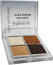 Parfumuri și produse cosmetice Fard de ochi în patru culori - Benecos Natural Quattro Eyeshadow