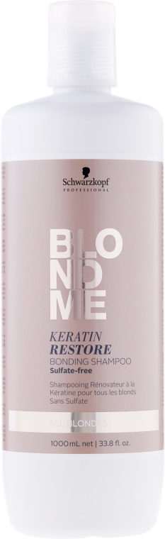 Șampon cu cheratină pentru păr blond - Schwarzkopf Professional Blondme Keratin Restore Bonding Shampoo